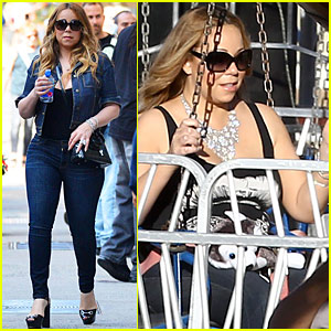 Mariah Carey Jet Sets from NY to LA With Monroe & Moroccan