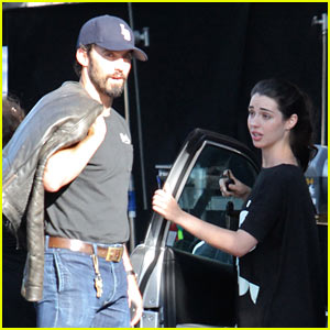 Milo Ventimiglia Hugs Adelaide Kane Goodbye After Lunch