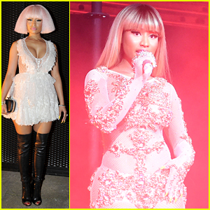 Nicki Minaj Performs at Givenchy Party in Milan
