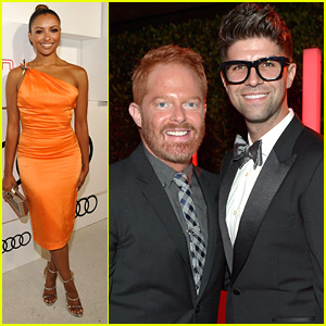 Jesse Tyler Ferguson & Justin Mikita Hit The Audi Emmy Awards Celebration With Nolan Gould