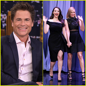 Rob Lowe, Kat Dennings & Beth Behrs Play Password On 'The Tonight Show' - Watch Here!
