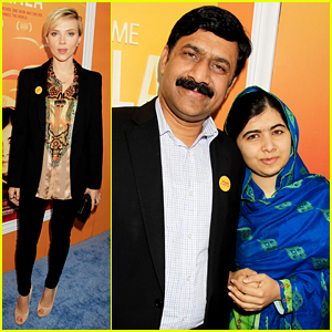 Scarlett Johansson Supports 'Malala' at New York Premiere!