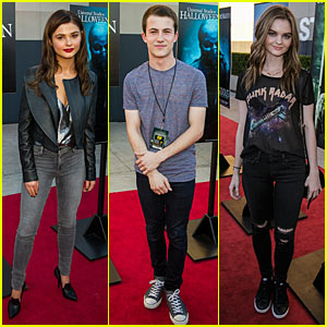 Goosebumps' Dylan Minnette & Jem's Stefanie Scott Scare Up Universal Studios' Halloween Horror Nights