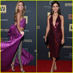 Stella Maxewll Hits 'Jeremy Scott People's Designer' Premiere With Victoria Justice