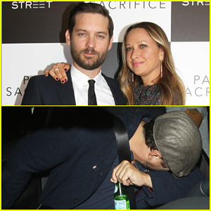 Tobey Maguire Gets Support From Leonardo DiCaprio & Wife Jennifer Meyer at 'Pawn Sacrifice' Premiere!