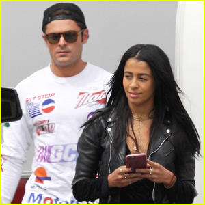 Zac Efron Spends Time With Sami Miro on Set in Atlanta