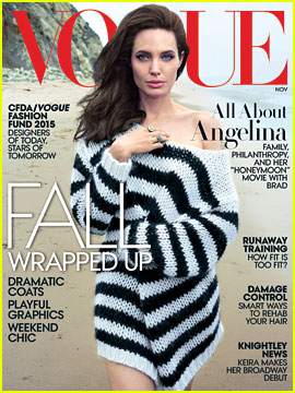 Angelina Jolie Covers 'Vogue,' Full Family Joins the Photo Shoot!