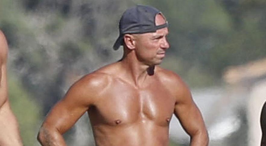 Kenny Chesney No Shirt No Problem For Malibu Beach Day