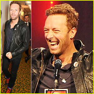 Chris Martin Steps Out After PDA Day with Annabelle Wallis