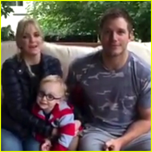 Chris Pratt & Anna Faris Name a Penguin with Son Jack! (Video)