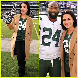 Demi Lovato Takes a Trip to 'Revis Island' at the Jets Game!