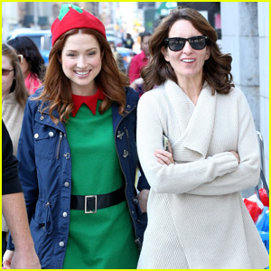Ellie Kemper Dons Elf Costume for 'Unbreakable Kimmy Schmidt' Filming With Tina Fey