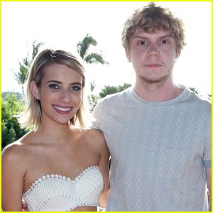 Evan Peters Gushes Over Emma Roberts: 'I Just Love Her'
