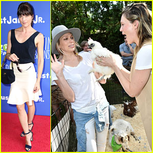 Erin & Sara Foster Get Silly in the Petting Zoo at Just Jared Jr. & Amazon Prime's Fall Fun Day!