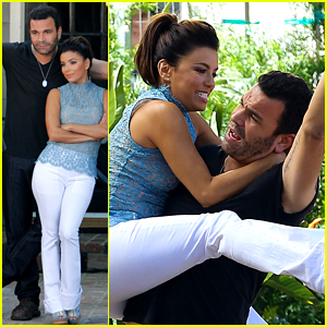 Eva Longoria Has a 'Desperate Housewives' Reunion, Jumps On Ricardo Antonio Chavira