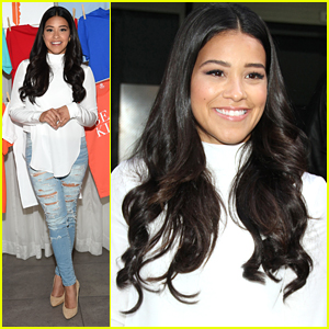 Gina Rodriguez Promotes CustomInk's Be Good To Each Other Campaign