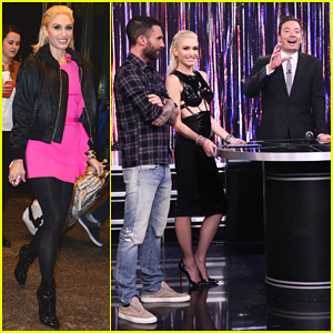 Gwen Stefani & Adam Levine Play Spin The Microphone On 'Tonight Show' - Watch Here!