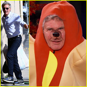 Harrison Ford Dresses as a Hot Dog for Halloween, Talks 'Star Wars: The Force Awakens' (Video)