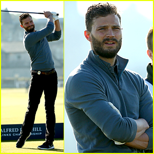 Jamie Dornan Scores an Eagle on the 18th Hole! (Video)