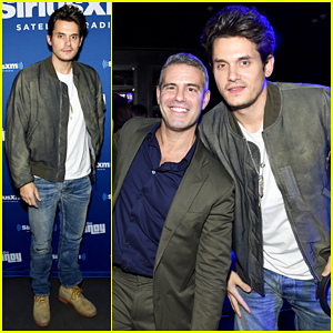 John Mayer Helps Andy Cohen Celebrate At 'Radio Andy' SiriusXM Channel Launch!