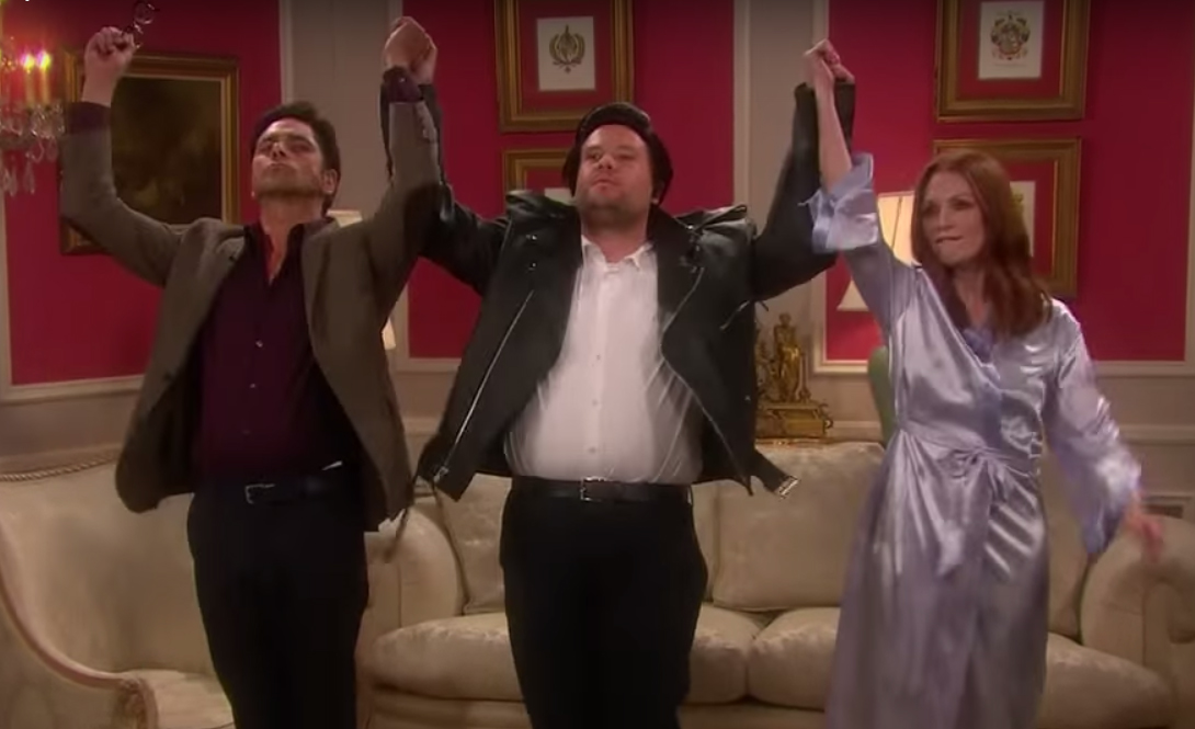 Julianne moore amp john stamos perform a taylor swift soap opera with