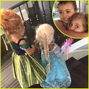 North West & Penelope Disick Dress as Elsa & Anna From 'Frozen' for Halloween! (Photo)