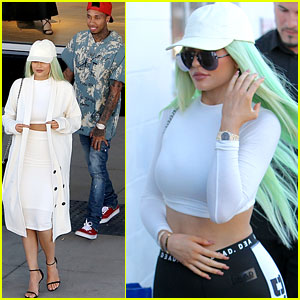 Kylie Jenner Wears Two Midriff Baring Outfits in One Afternoon