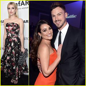 Lea Michele & Boyfriend Matthew Paetz Couple Up at amfAR Inspiration Gala!