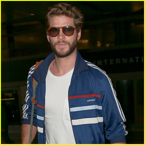 Liam Hemsworth Arrives Back in L.A. for 'Mockingjay' Promo