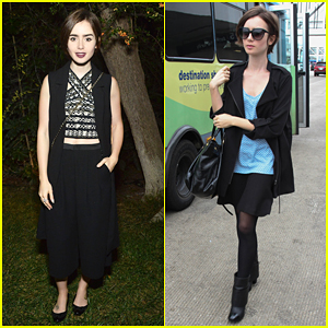 Lily Collins Helps Mom Jill Host A Night Of Old Hollywood Glamour!