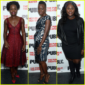 Lupita Nyong'o Sparkles in Red for 'Eclipsed' Opening Night