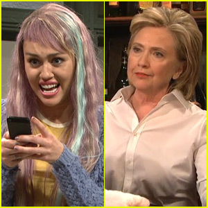 Watch Miley Cyrus & Hillary Clinton on 'Saturday Night Live'! (Videos)