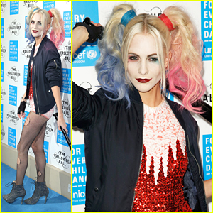 Poppy Delevingne Is Suicide Squad's Harley Quinn At UNICEF Halloween Ball!