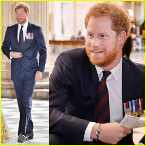 Prince Harry Meets Families Of Explosive Ordnance Disposal At 75th Anniversary Service!