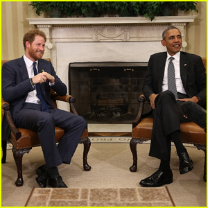 Prince Harry Meets With President Obama in the Oval Office