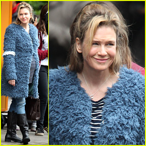 Renee Zellweger as Pregnant Bridget Jones - First On Set Photos!