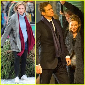 Renee Zellweger & Colin Firth Finally Reunite on 'Bridget Jones' Set