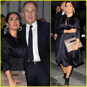 Salma Hayek & Husband Francois-Henri Pinault Head to the Balenciaga Fashion Show