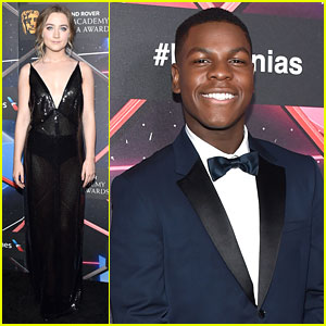 Saoirse Ronan Hands Out Britannia Awards with Star Wars' John Boyega!