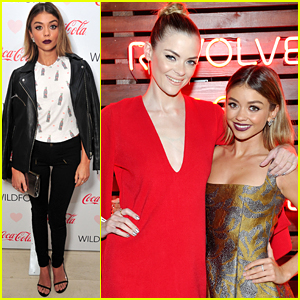 Jaime King & Sarah Hyland Meet Up For Revolve's SU2C Fashion Show