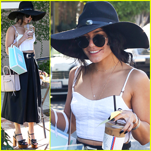 Vanessa Hudgens Makes A Coffee Run After Spa Visit