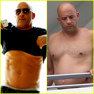 Vin Diesel Shuts Down His Body-Shamers with Shirtless Six Pack Pic