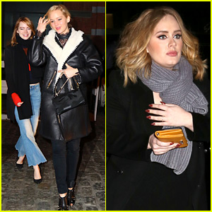 Adele, Jennifer Lawrence, & Emma Stone Give Off Ultimate Squad