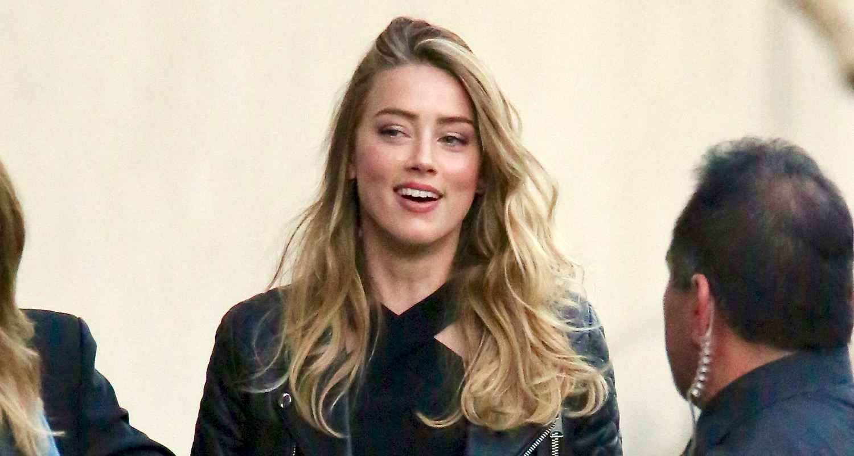 Amber Heard Gives Jimmy Kimmel a Kiss From Johnny Depp | Amber Heard ...