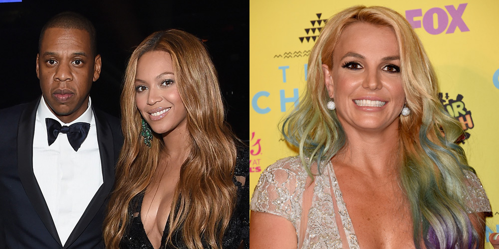 beyonce amp jay z checked out britney spears� vegas show