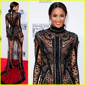 Ciara Goes Sheer, Cheers on Russell Wilson from AMAs 2015 Red ...