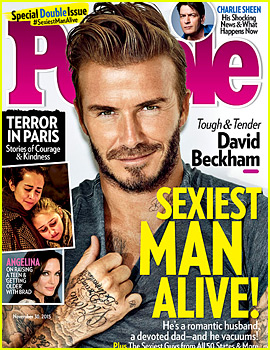 David Beckham Is People's Sexiest Man Alive 2015!