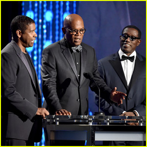 Denzel Washington & Samuel L. Jackson Present to Spike Lee at Governors Awards 2015