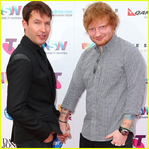 Ed Sheeran & James Blunt Hold Hands on Aria Awards Carpet