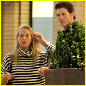 James Marsden Goes Luggage Shopping with Girlfriend Edei